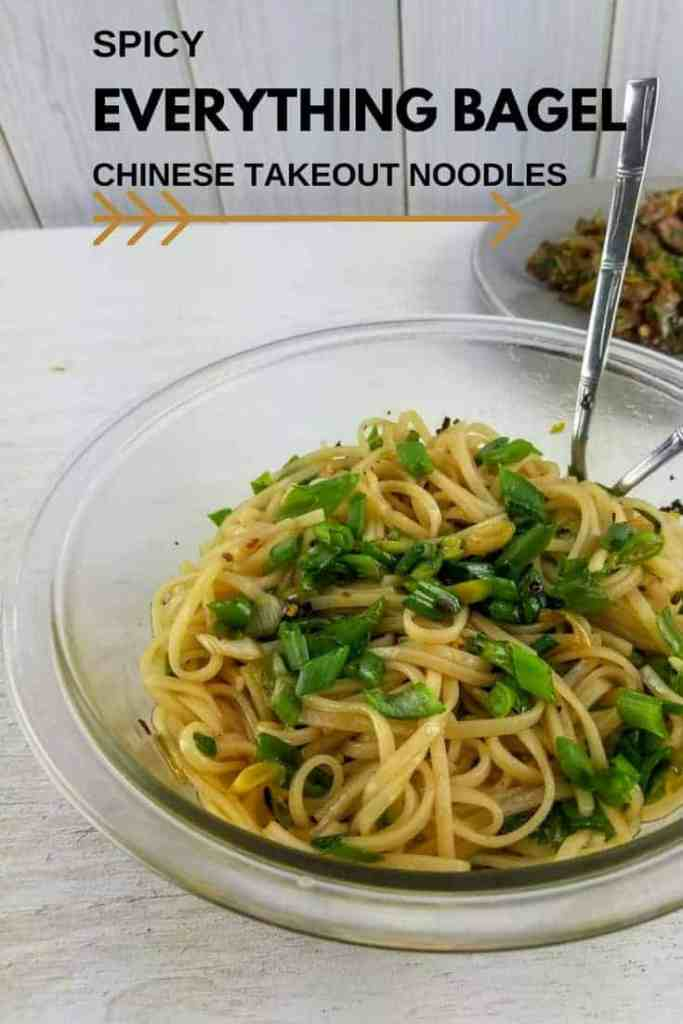 Spicy Everything-Bagel Chinese Takeout Noodles