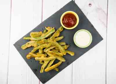 Fried Green Beans with Wasabi Ranch | Sip + Spice