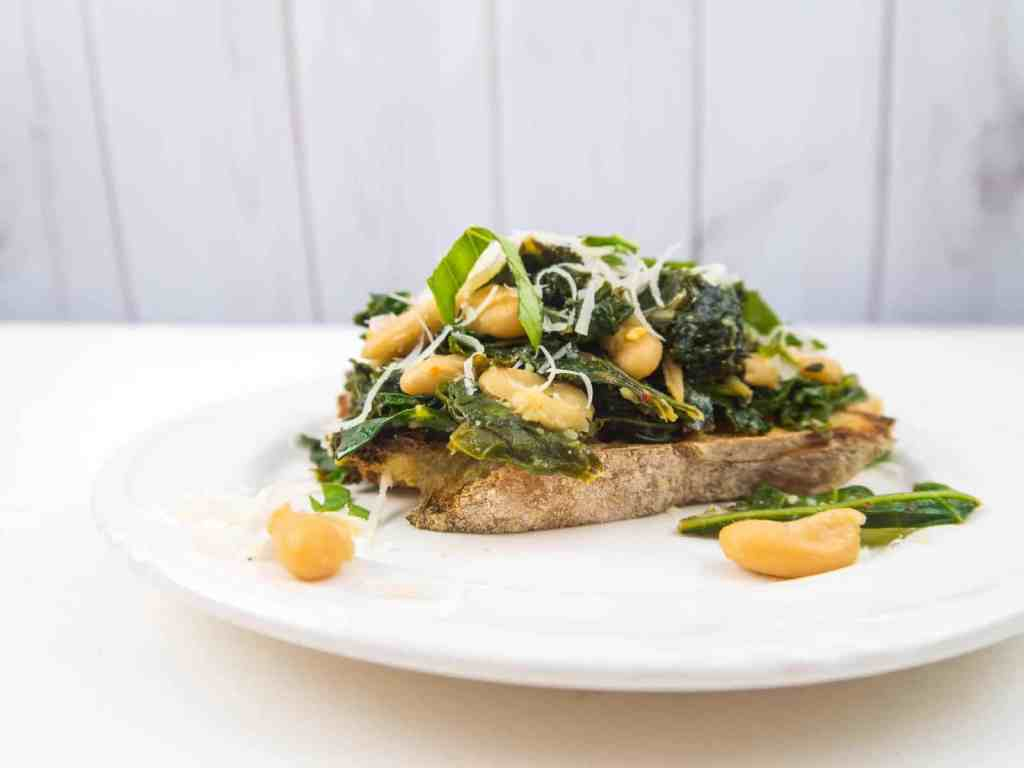 Greens and Beans on Toast | Sip + Spice