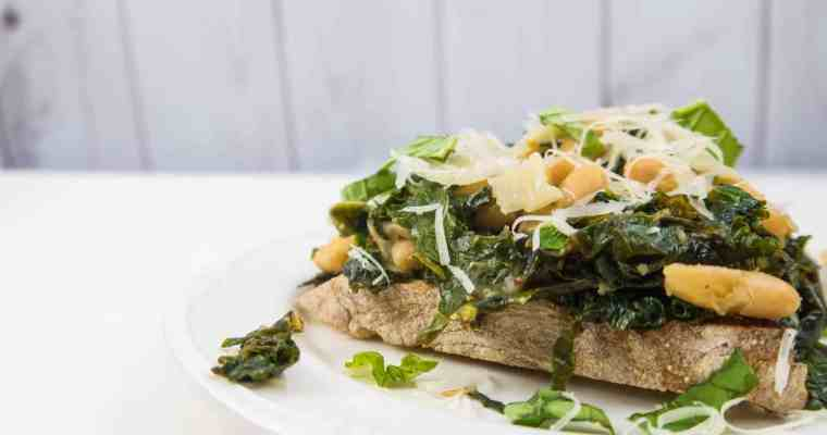 Greens and Beans on Toast