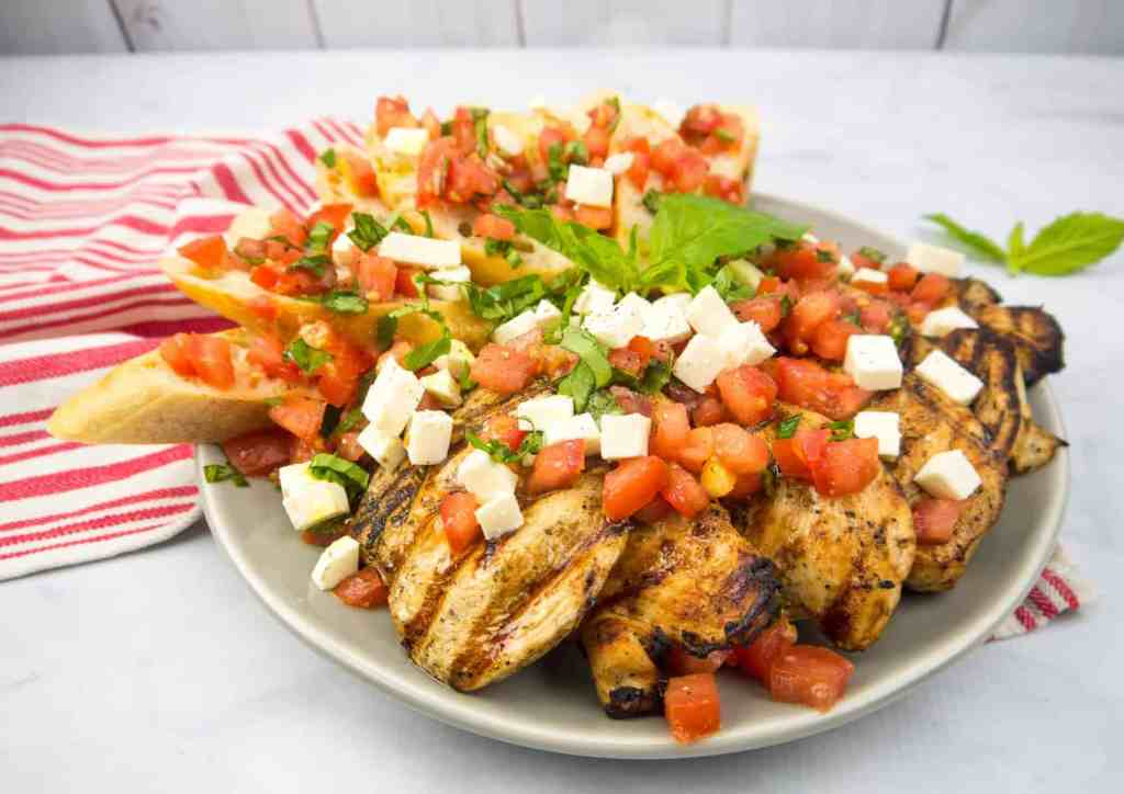 Grilled Bruschetta Chicken | Sip + Spice