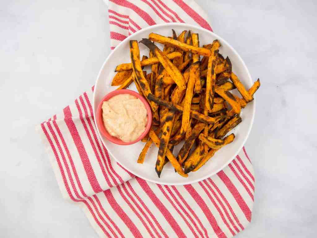Healthy Sweet Potato Fries | Sip + Spice