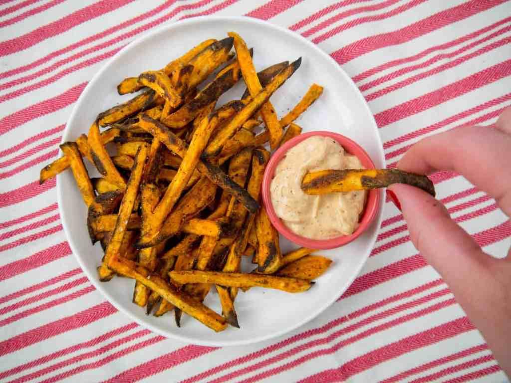 Healthy Sweet Potato Fries | Sip + Spice