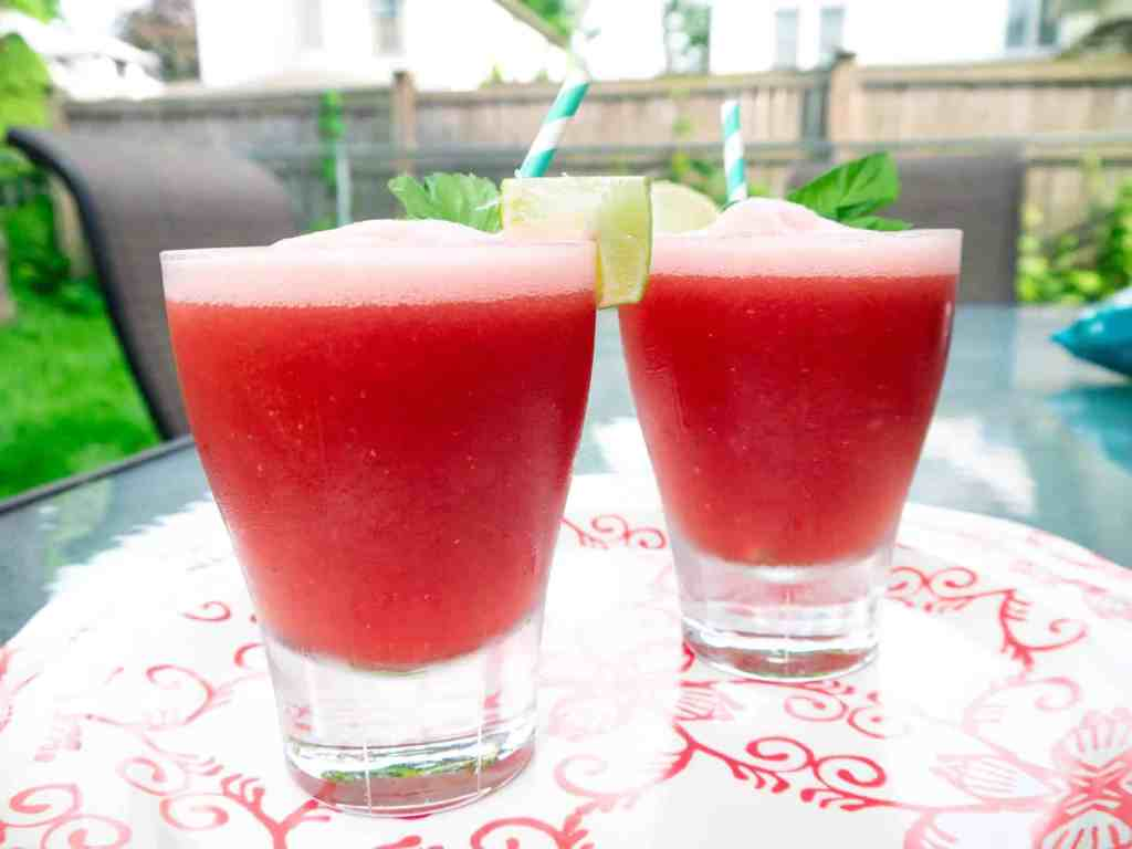 Watermelon Basil Vodka Cooler   Sip + Spice