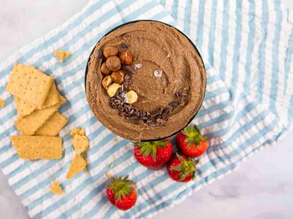 Chocolate Hazelnut Dessert Hummus | Sip and Spice