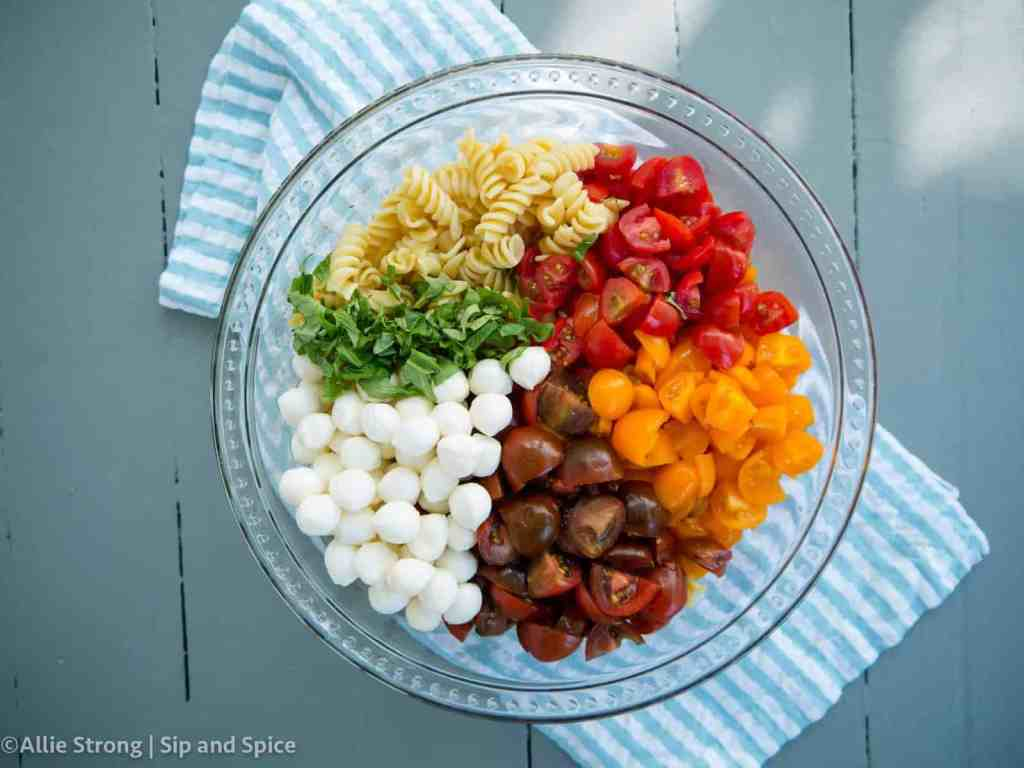 Caprese Pasta Salad | Sip and Spice