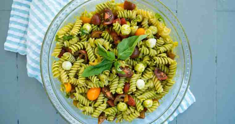 Caprese Pasta Salad with Basil Vinaigrette