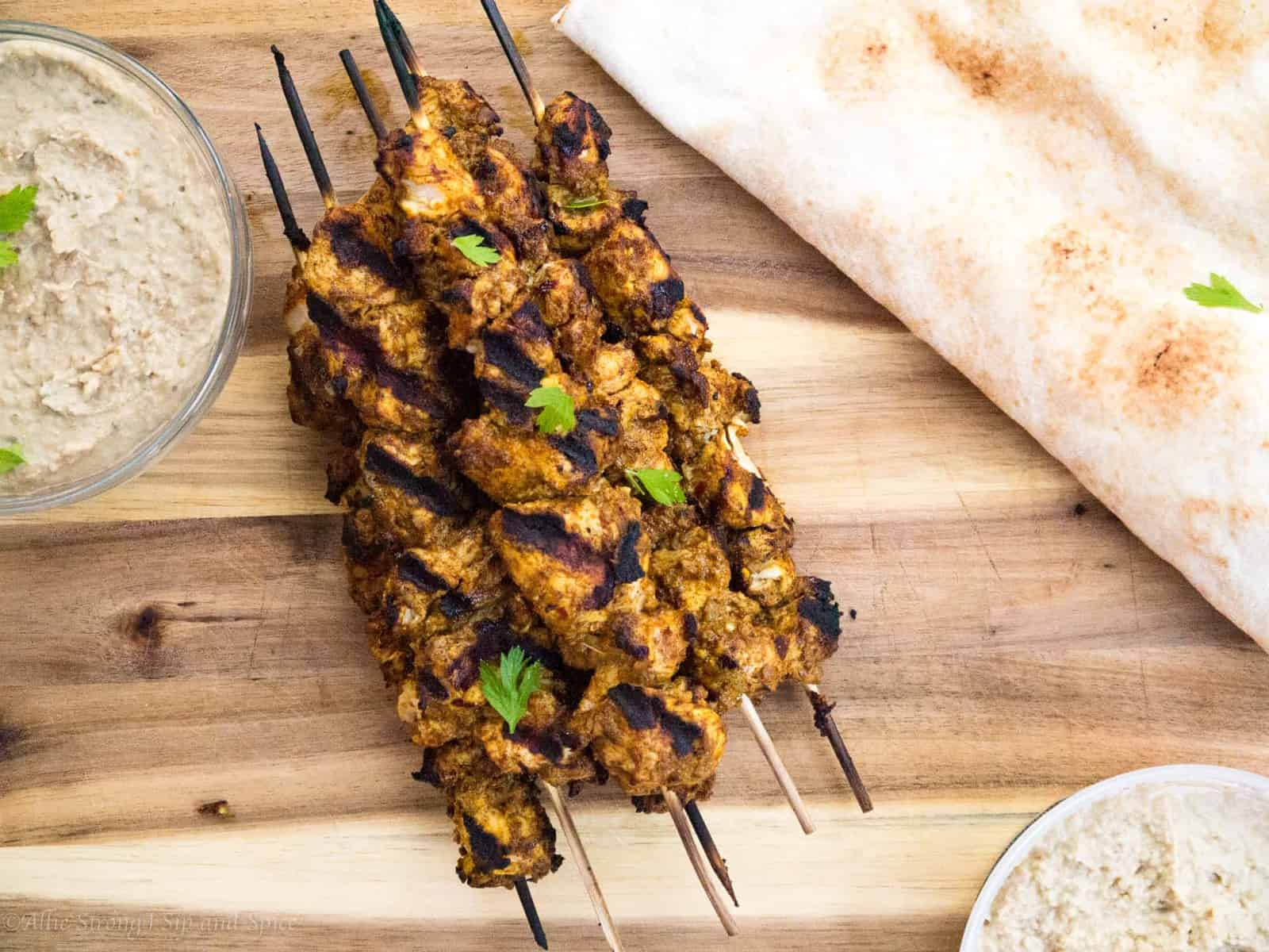 Yogurt-Marinated Chicken Shawarma Kebabs