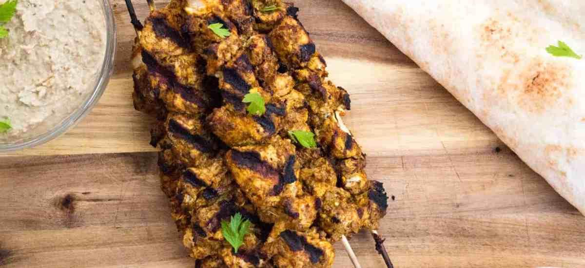 Yogurt-Marinated Chicken Shawarma Kebabs