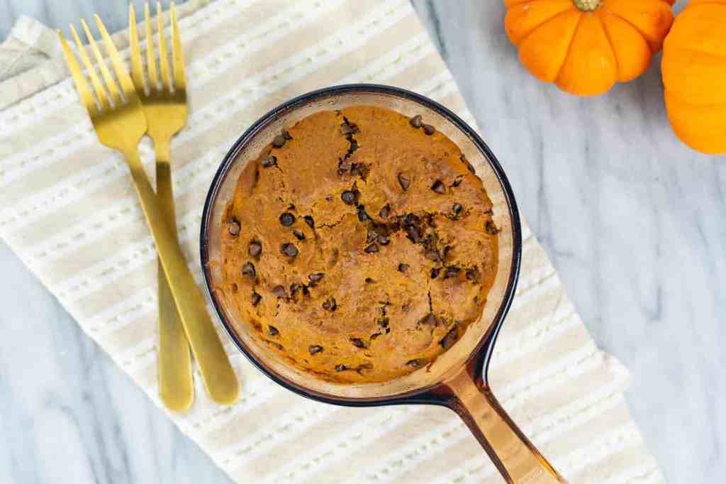 Vegan Pumpkin Spice Chocolate Chip Skillet Cookie   Sip and Spice