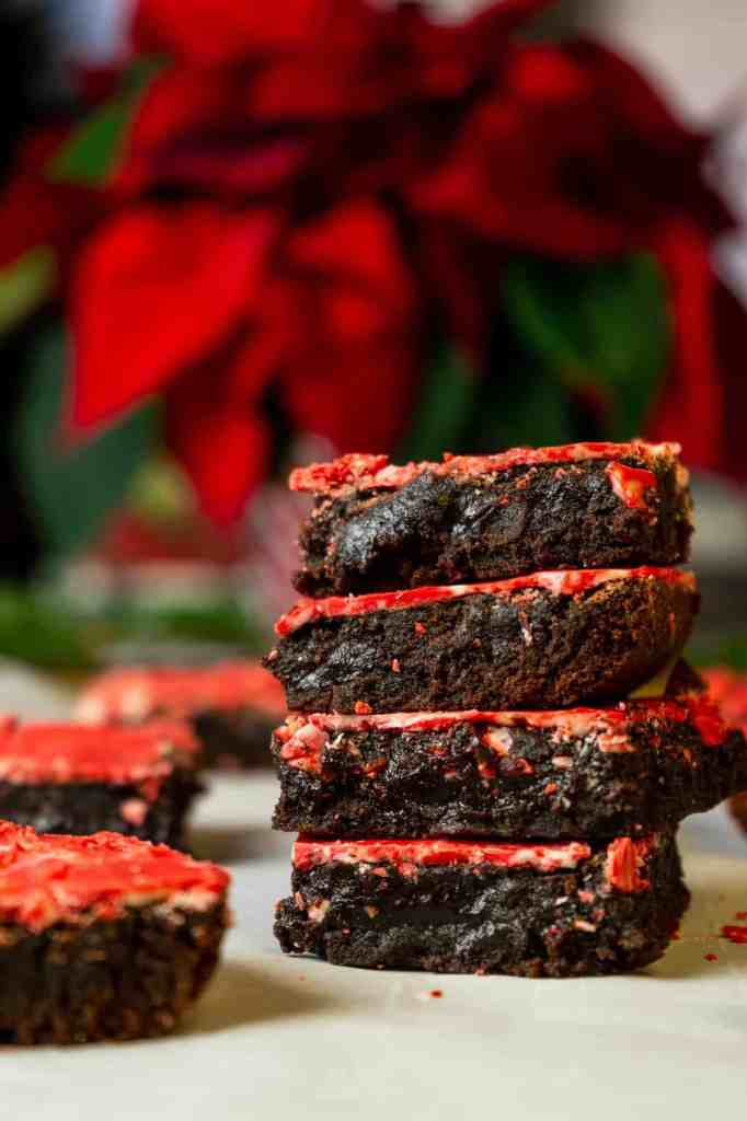Peppermint Crunch Brownies | Sip and Spice
