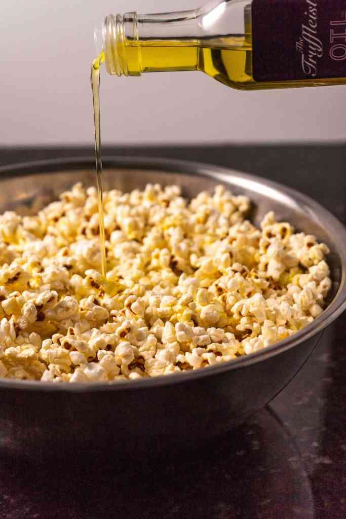 Rosemary Truffle Popcorn | Sip and Spice