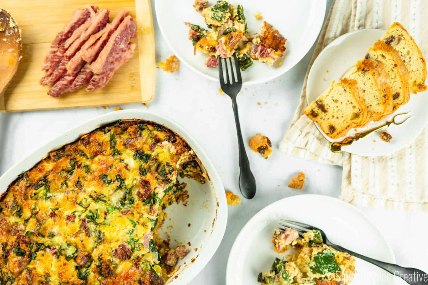 Corned Beef and Kale Strata with Irish Soda Bread: St. Patrick's Day Brunch