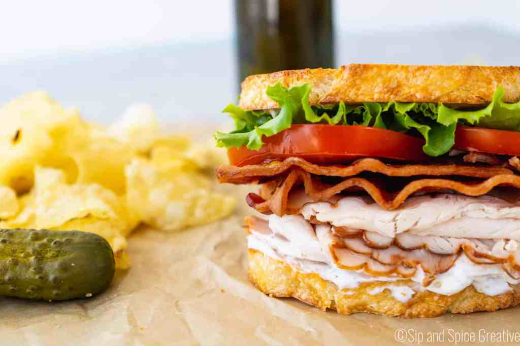 Roast Turkey BLT with Herbed Mayo | Sip and Spice
