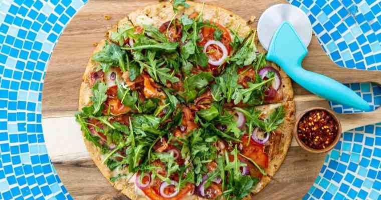 15-Minute BLT Flatbread Pizza