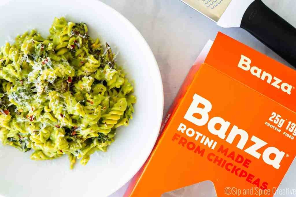 Chickpea Pasta with Roasted Broccoli Sauce   Sip and Spice