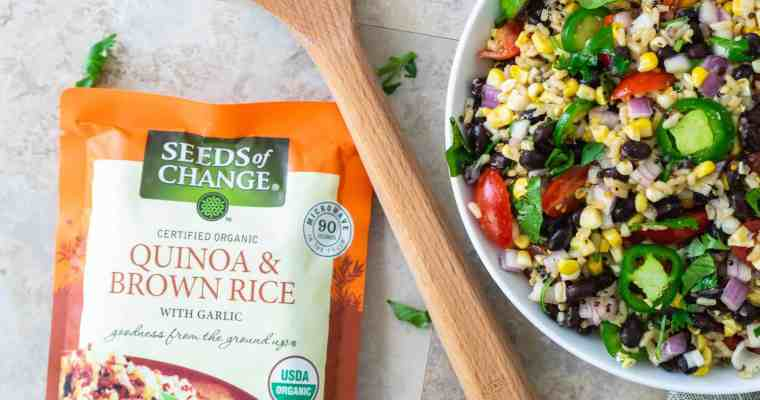 Quinoa and Brown Rice Salad with Black Beans and Honey-Lime Vinaigrette