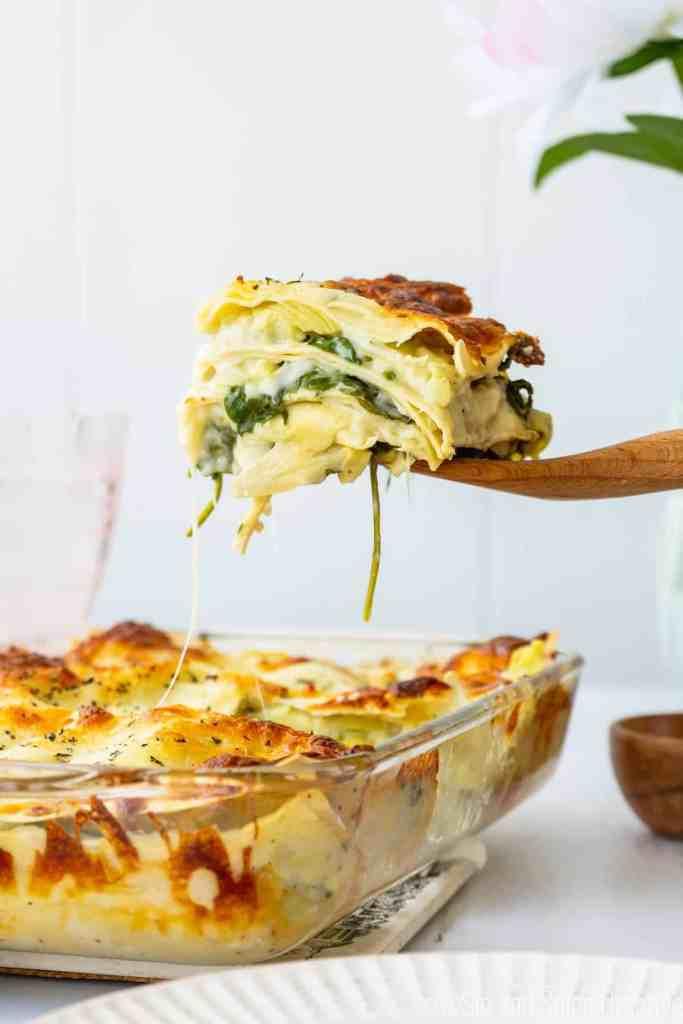 Spinach Artichoke Lasagna   Sip and Spice