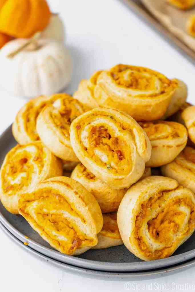 Savory Pumpkin Pinwheels with Bacon and Sage | Sip and Spice
