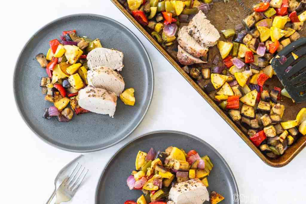 Sheet Pan Pork Tenderloin with Balsamic Roasted Vegetables | Sip and Spice