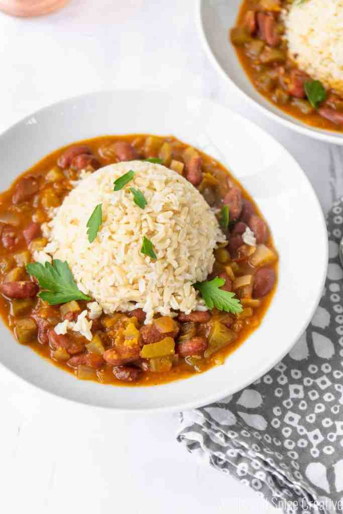 Vegan Red Beans and Rice | Sip and Spice