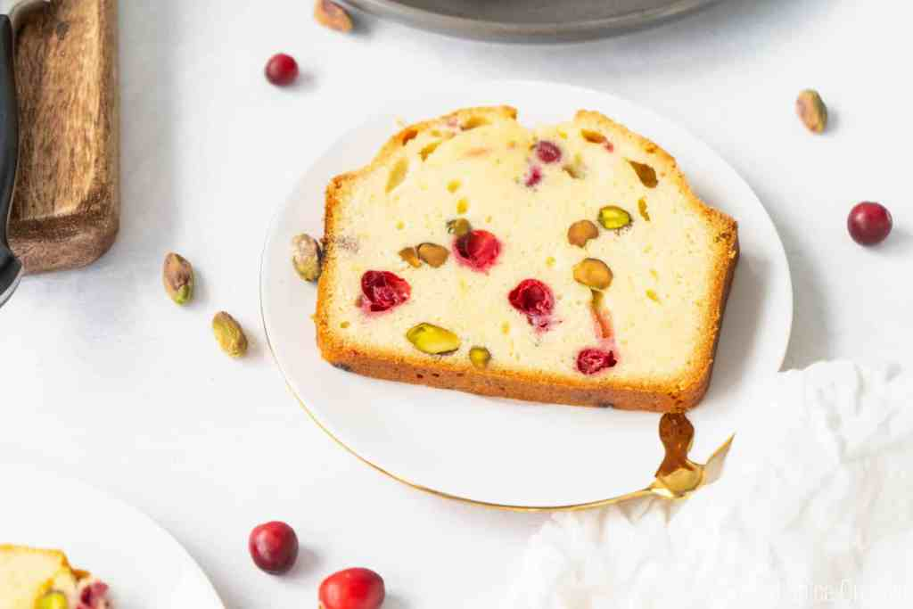 Cranberry Pistachio Pound Cake | Sip and Spice