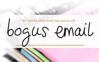 A bogus startup email request