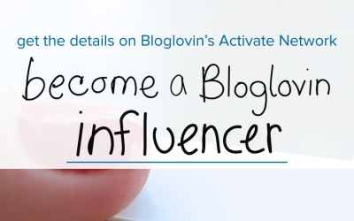 How to become an influencer on Bloglovin Activate