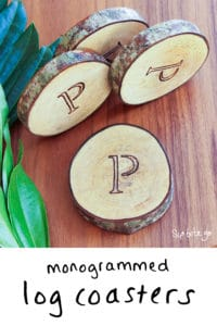 monogrammed log coasters a creative wedding gift idea sip bite go