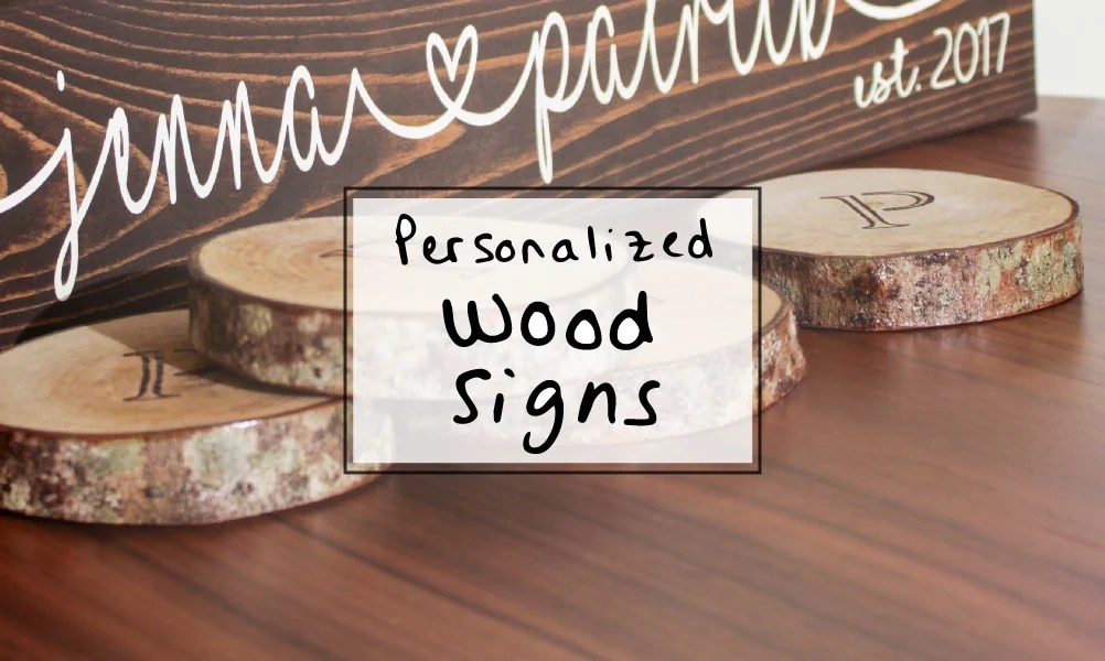 wedding wood personalized sign gift couples idea signs garden sipbitego diy