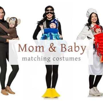 baby matching Halloween costume ideas lobster octopus