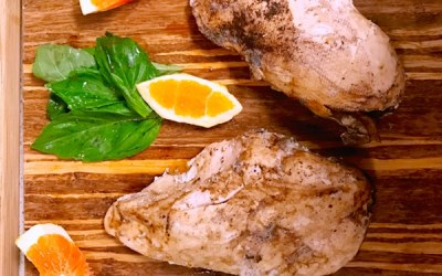 chicken in an orange sage glaze