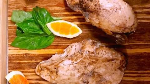 Sous Vide Chicken in an Orange Sage Glaze