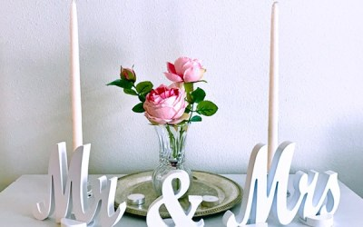 Wedding Contest: Win a Mr and Mrs sweetheart table wedding sign