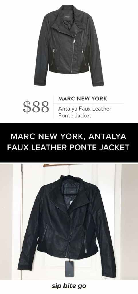 Stitch Fix Winter leather jacket by MARC NEW YORK, Antalya Faux Leather Ponte Jacket