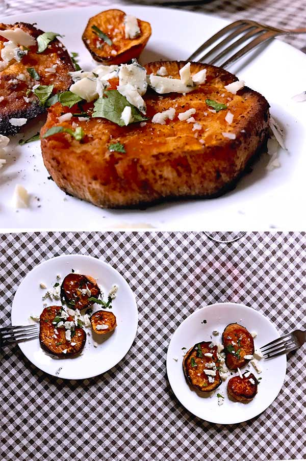 Buttery sweet potatoes oven baked sweet potato recipe 3 checkered table cloth