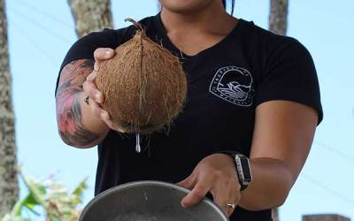 How to open a coconut step by step