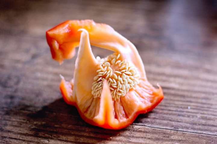 red pepper seeds skin removed