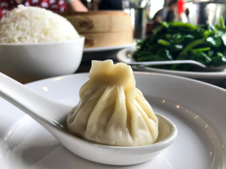 Duck House soup dumplings in PDX
