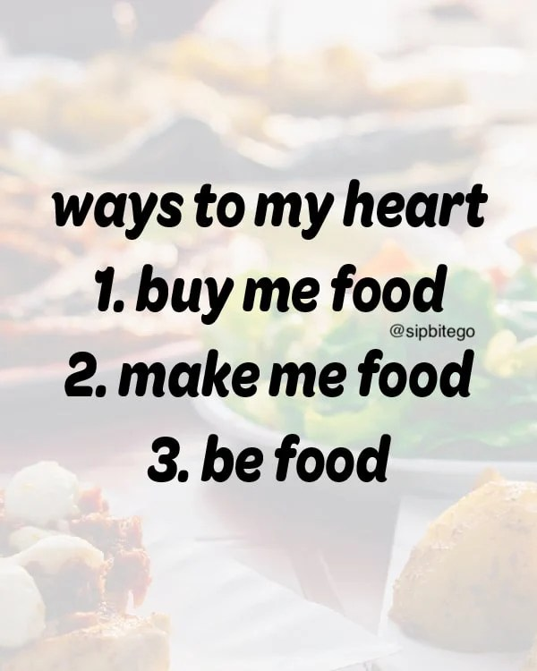 funny quote about loving food