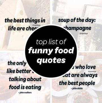 List of the top funny quotes about food