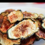healthy oven baked zucchini chips pin