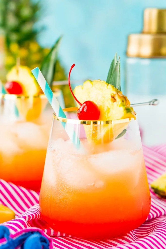 Mai Tai Cocktail at a tropical party
