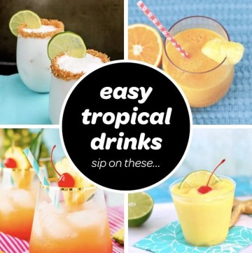 easy tropical drinks recipes for summer and luau parties