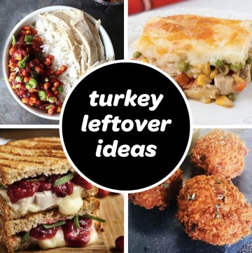 easy leftover turkey recipes ideas after thanksgiving feature pic