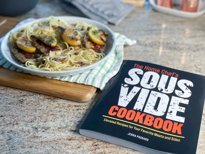 Recipe from The Home Chef's Sous Vide Cookbook by Author Jenna Passaro with sous vide chicken