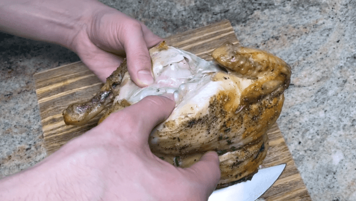 fully cooked sous vide whole chicken