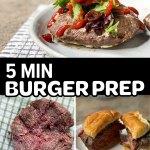 ground beef patty burger prep collage pinterest pin