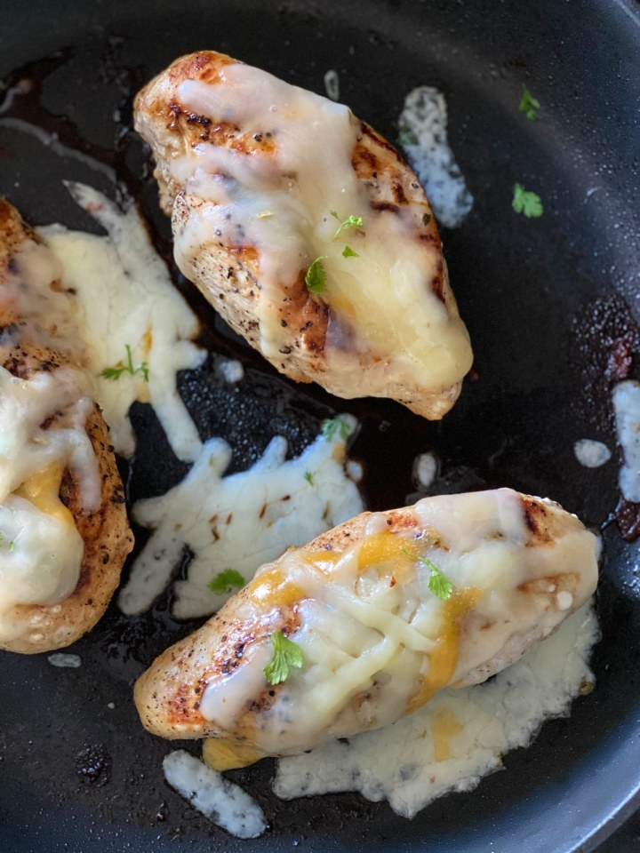 chicken dinner with cheese and herbs