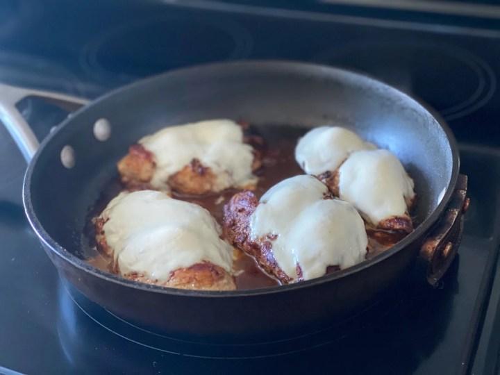 melting Mozzarella on chicken